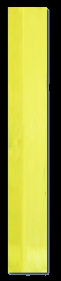 Rampe gelb, negative Verzahnung, 608x100x10.5mm