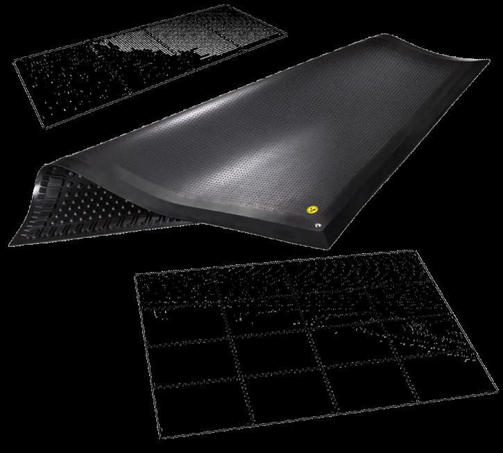 Ergonomische Bodenmatte 135x100x1.6cm, Typ A: Ungepuzzelt