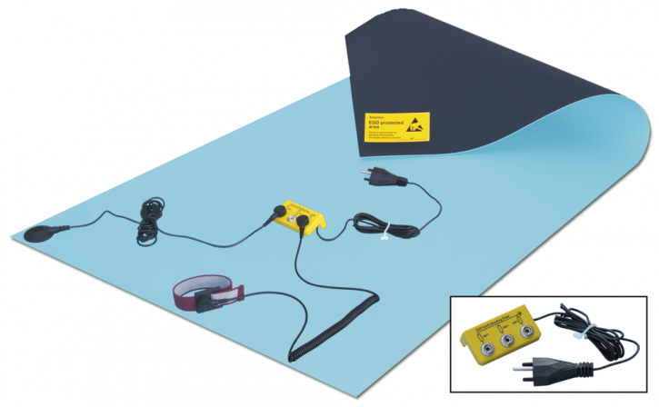 Rubber bench mat kit 120x60cm, with Swiss plug
