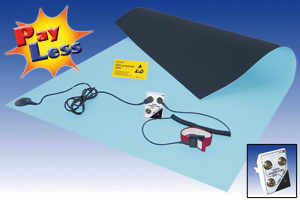 Rubber bench mat kit 90x60cm