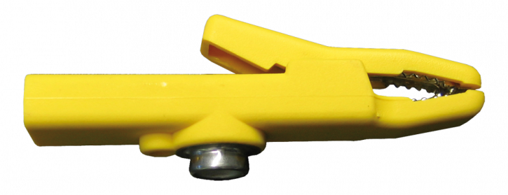 Bulldogg Clip with 10mm stud, yellow