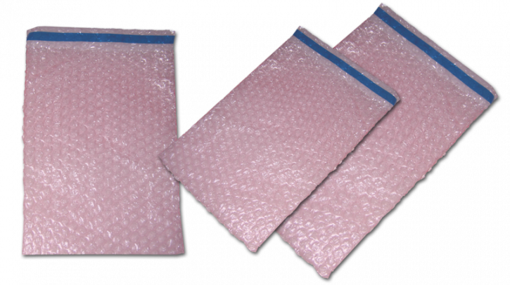 Antistatic pink bubble bags