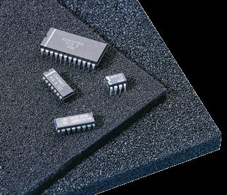Rigid polyurethane foam (standard), permanently conductive