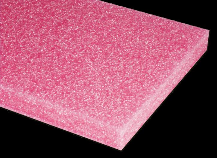 PE-Hartschaumstoff, pink, abriebfest, antistatisch