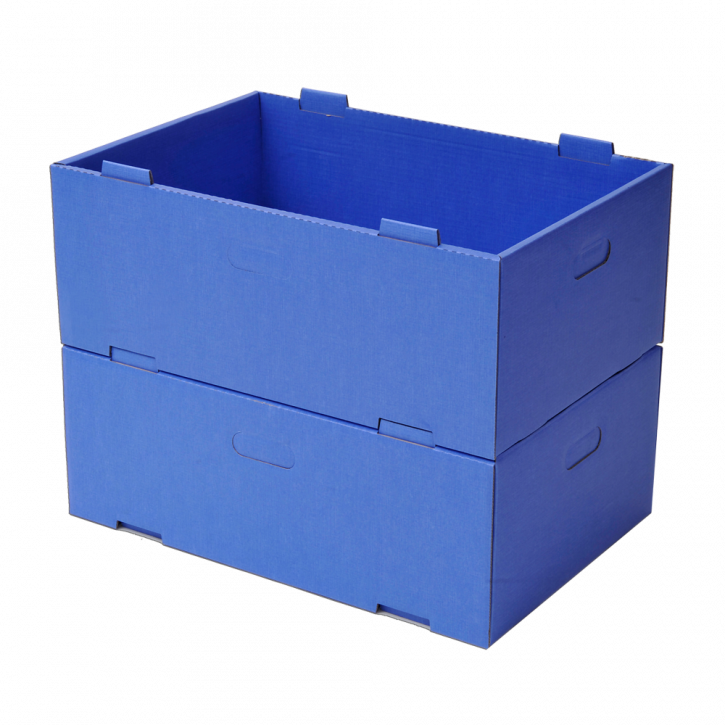 Stack container blue, shielding