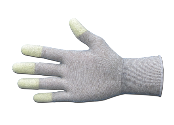 ESD-Handschuhe mit Fingerspitzenverstärkung, Pck à 10 Paar