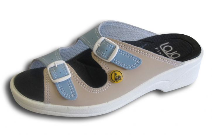 "ESD-Ladies shoes, type ""Malibu"", light blue/beige , Size: 35 - 43"