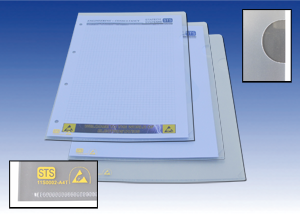 Document holder A4 2 sides open, thickness: 200µm, Pck of 50