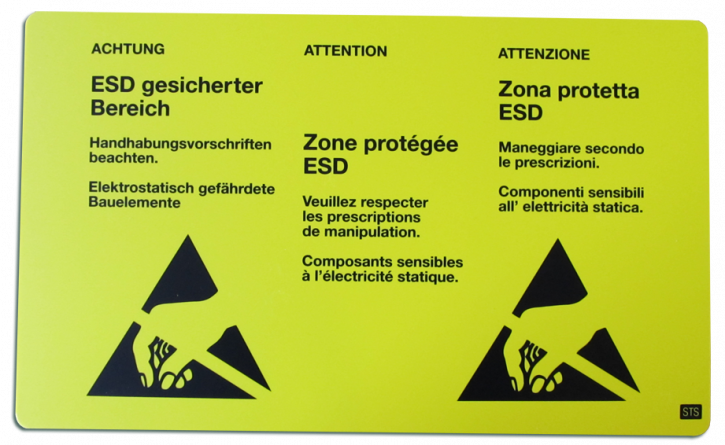 "ESD warning signs ""Switzerland"""