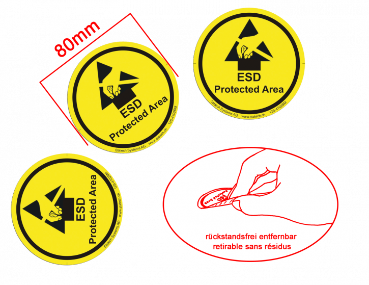Round floor marking labels