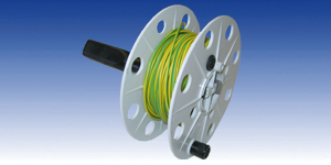 Cable reel with 25m (80 ft) grounding cord