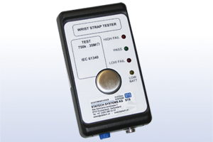 Wriststrap tester, according to IEC 61340-5-1, incl. certificate and 9V battery