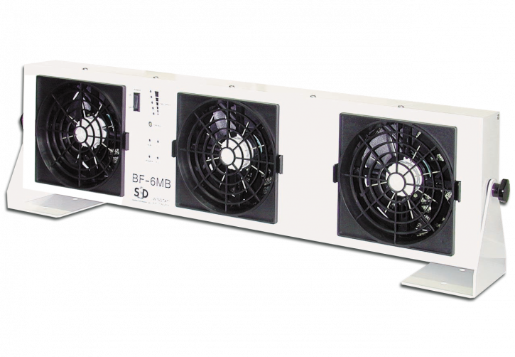 Ionizing air blower with 3 fans (type BF-6MB)