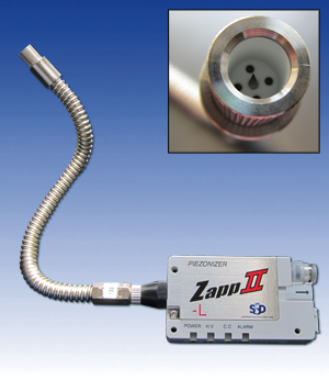 "Ionizing Nozzle ""IonBreeze"" credit card sized with 10cm air supply hose (swan-neck)"