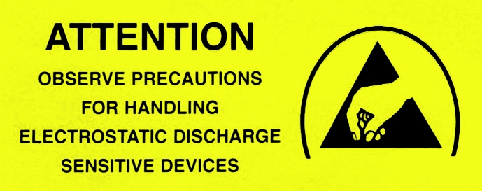 ESD-Protection labels, english