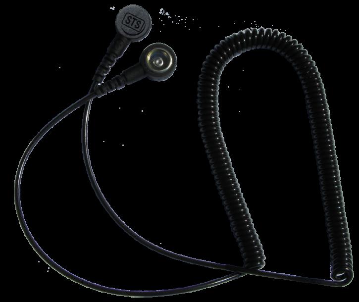 Spiralkabel 2m, 4mm(w)/10mm(w), 2MΩ