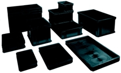 ESD stacking container, black