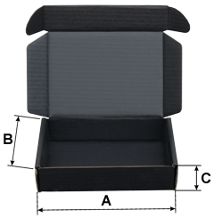 Conductive cardboard box, black